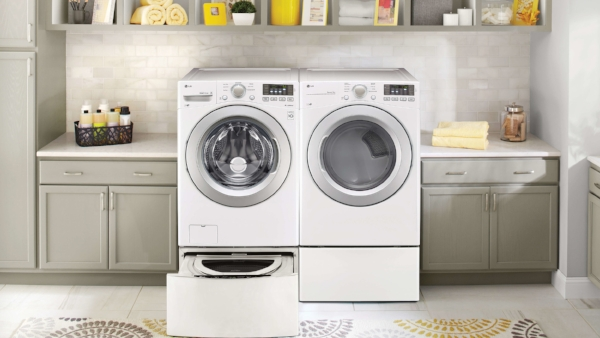 White Front Load Washer & Dryer Set