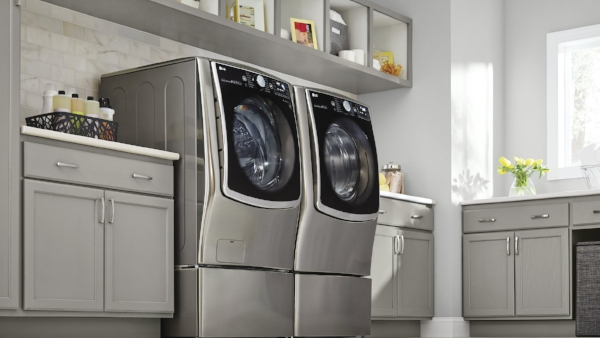 Stainless Front Load Washer & Dryer