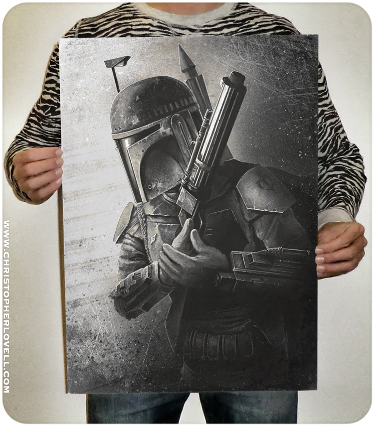 I recently Did an Inktober sketch of one of my favourite Star Wars Characters 'Boba Fett'. A number of people asked if I would make a print available of the piece so I decided to do a small run. There is a few left if you are interested in snagging a signed print of the most feared bounty hunter in the galaxy!   All A2 16.5 x 23.4 inch prints come with FREE worldwide shipping and are signed by me personally.   Go grab one before they are gone! Have a great weekend everyone!   www.christopherlovell.com/shop