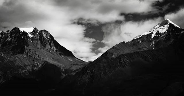 One of the last pictures I took in Jomsom near Thorang La. #mountains #nepal #blackandwhite  #anseladams