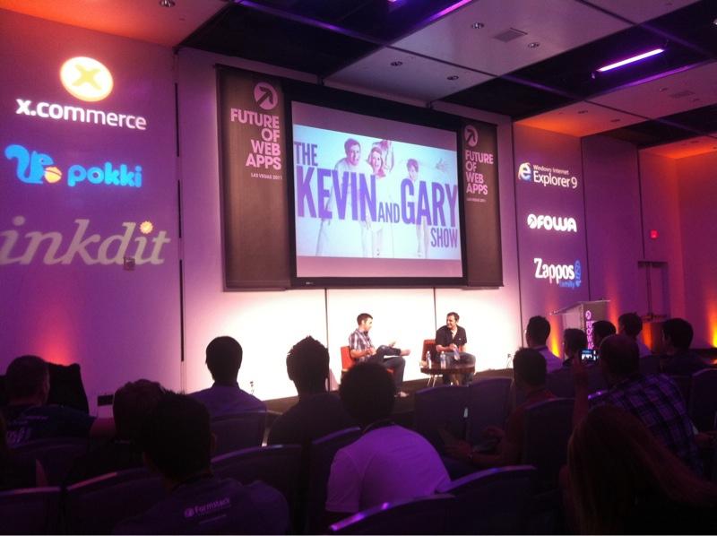 Kevin Rose and Gary Vaynerchuk talking tech entrepreneurship back in 2011.