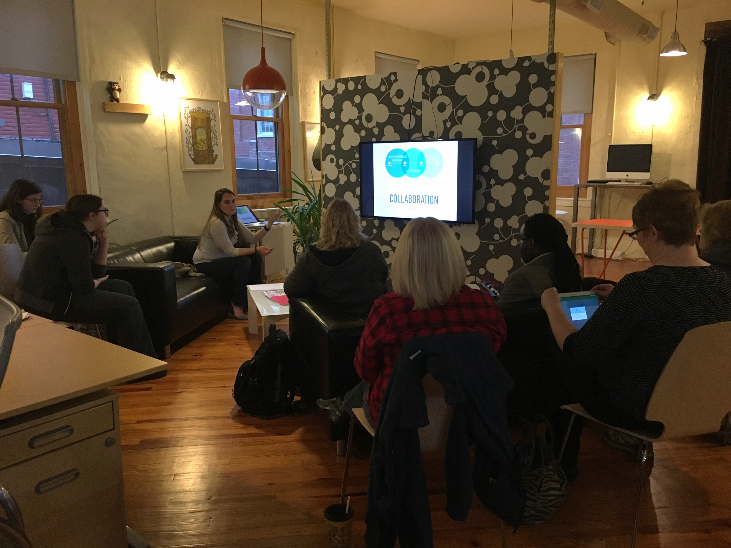 Workshop taking place at  CoModo  in Lancaster. This place and the people there rock! Thanks for the photo,  Erin !
