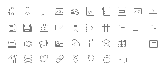 Pixel-perfecting these icons to update an old style inside an existing system with technical limitations was a time consuming but rewarding project.