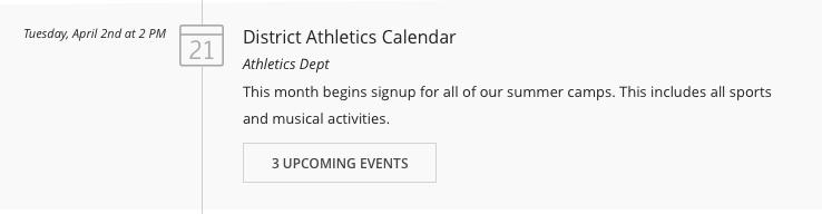 Calendar stream update