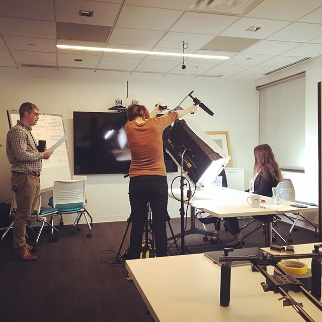 Our awesome team producing a promo video for the Pivotal product debuting at @arrayarch / Array Analytics! #designer #productdesign #saas #team