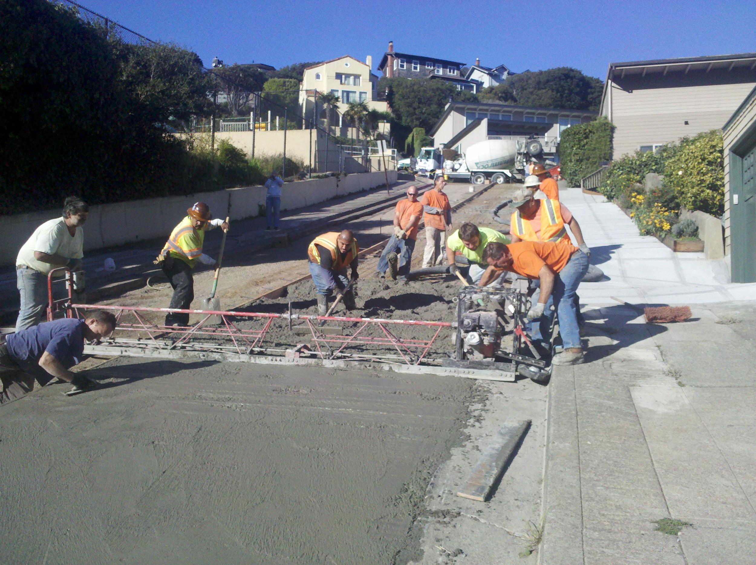 Concrete Street Work - Sausalito, CA