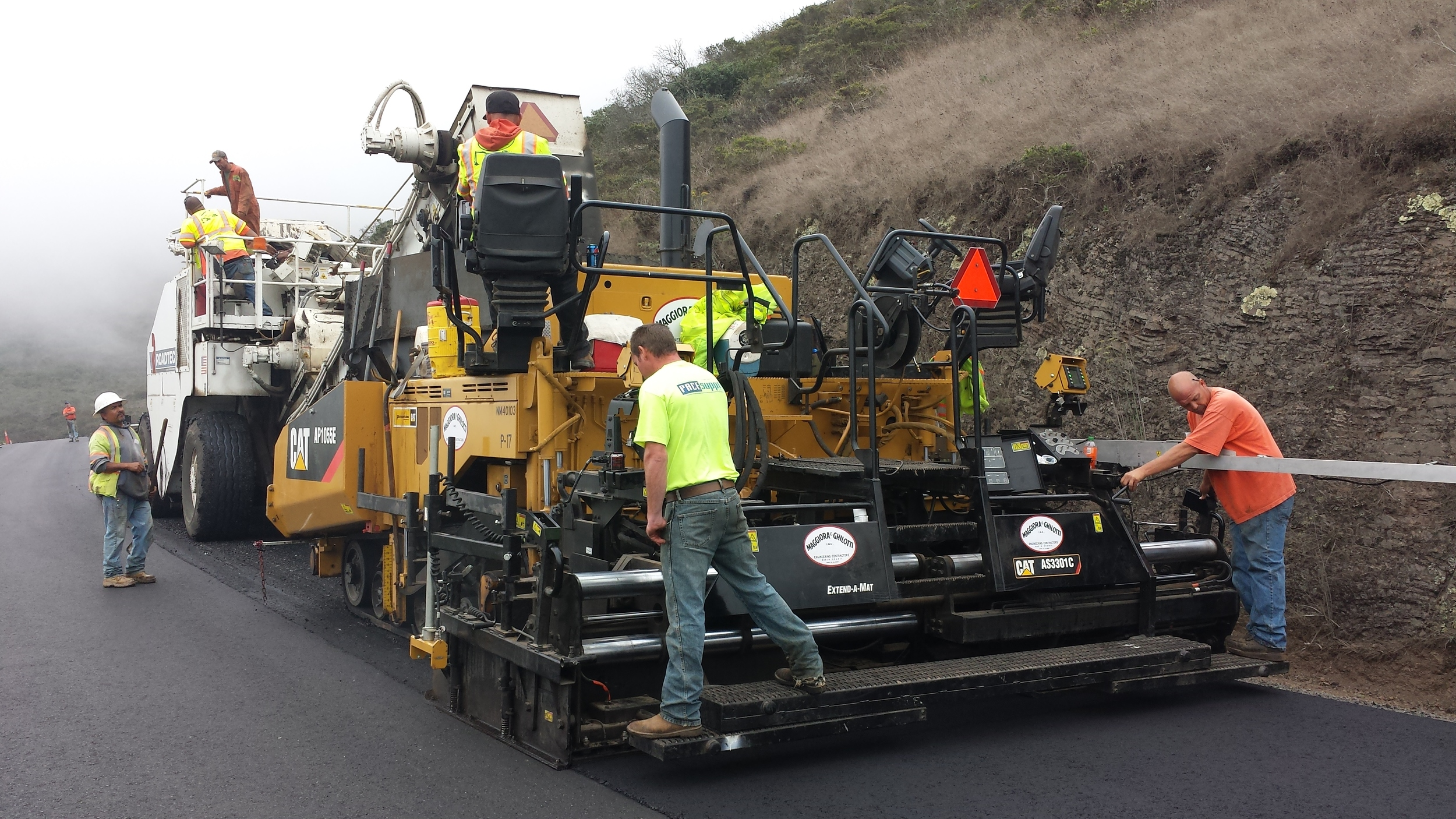 Paving Bunker Road - Sausalito, CA