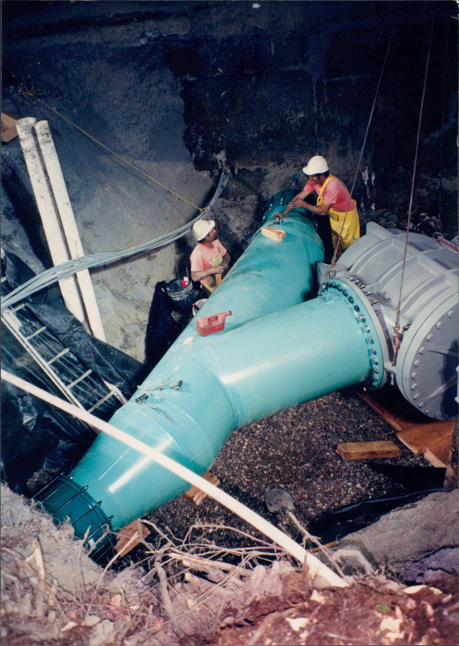 Large Tie In @ Sewer Plant - San Rafael, Ca