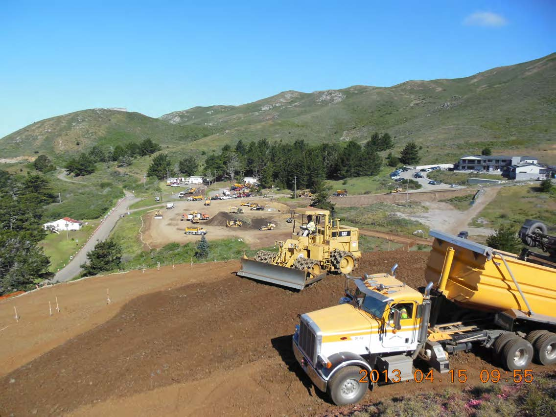 Fill of historic quarry site above Marine Mammal Center with material from Alexander Avenue