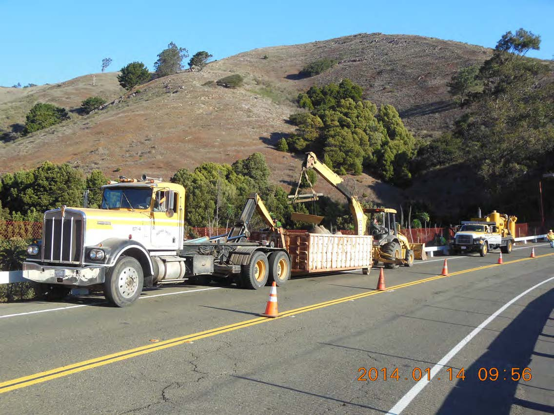 Removing some of the 30,000 LF of wattles placed for storm water protection