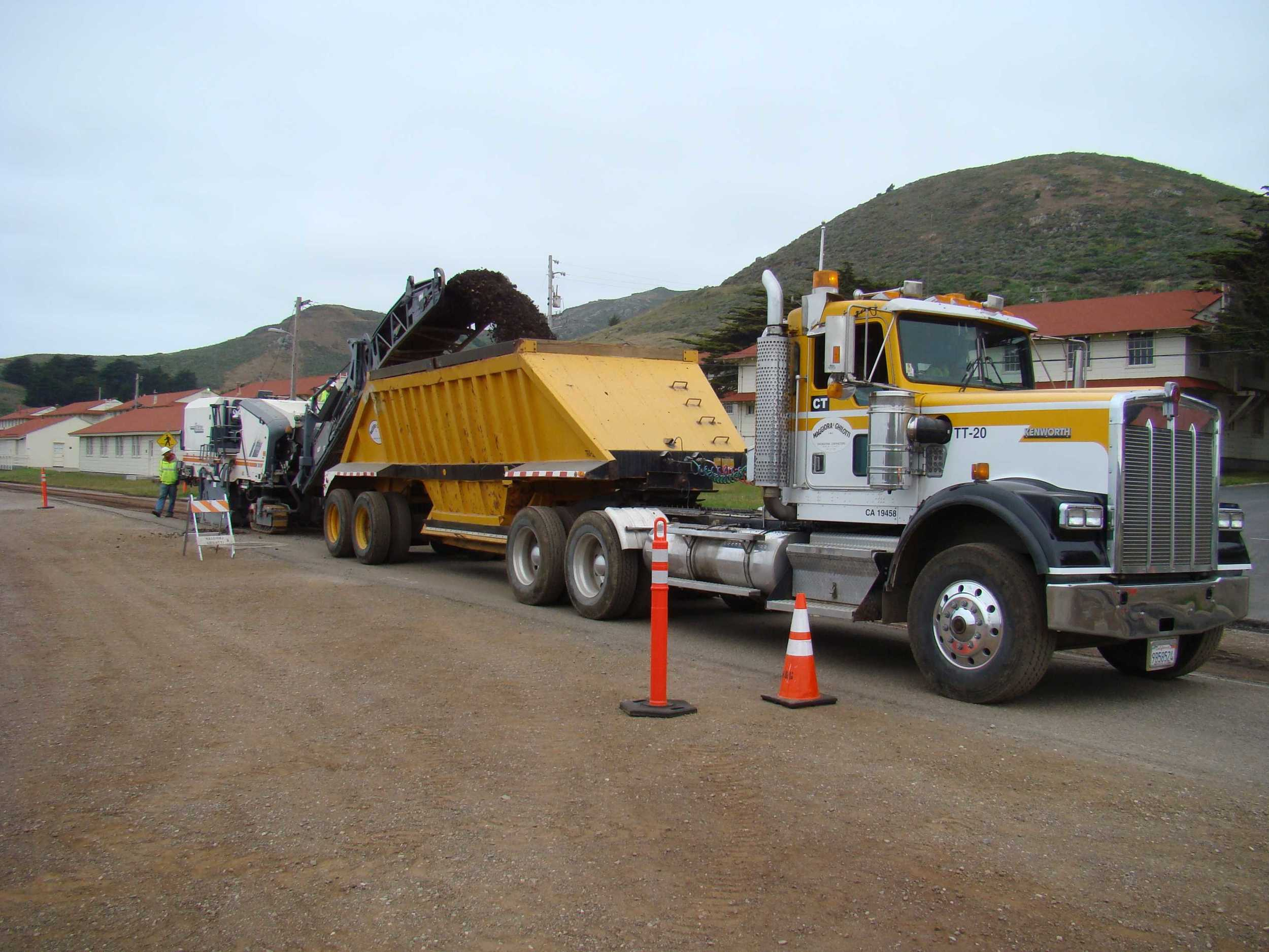 Milling Mitchell Road for Regarding and Repaving