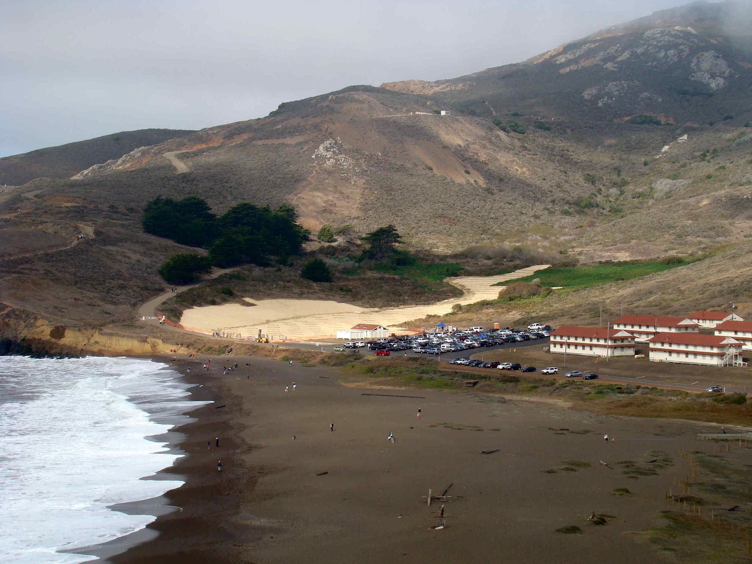 Wetland Restoration of Surfer Lot and Rebuilt Rodeo Beach Parking Lot