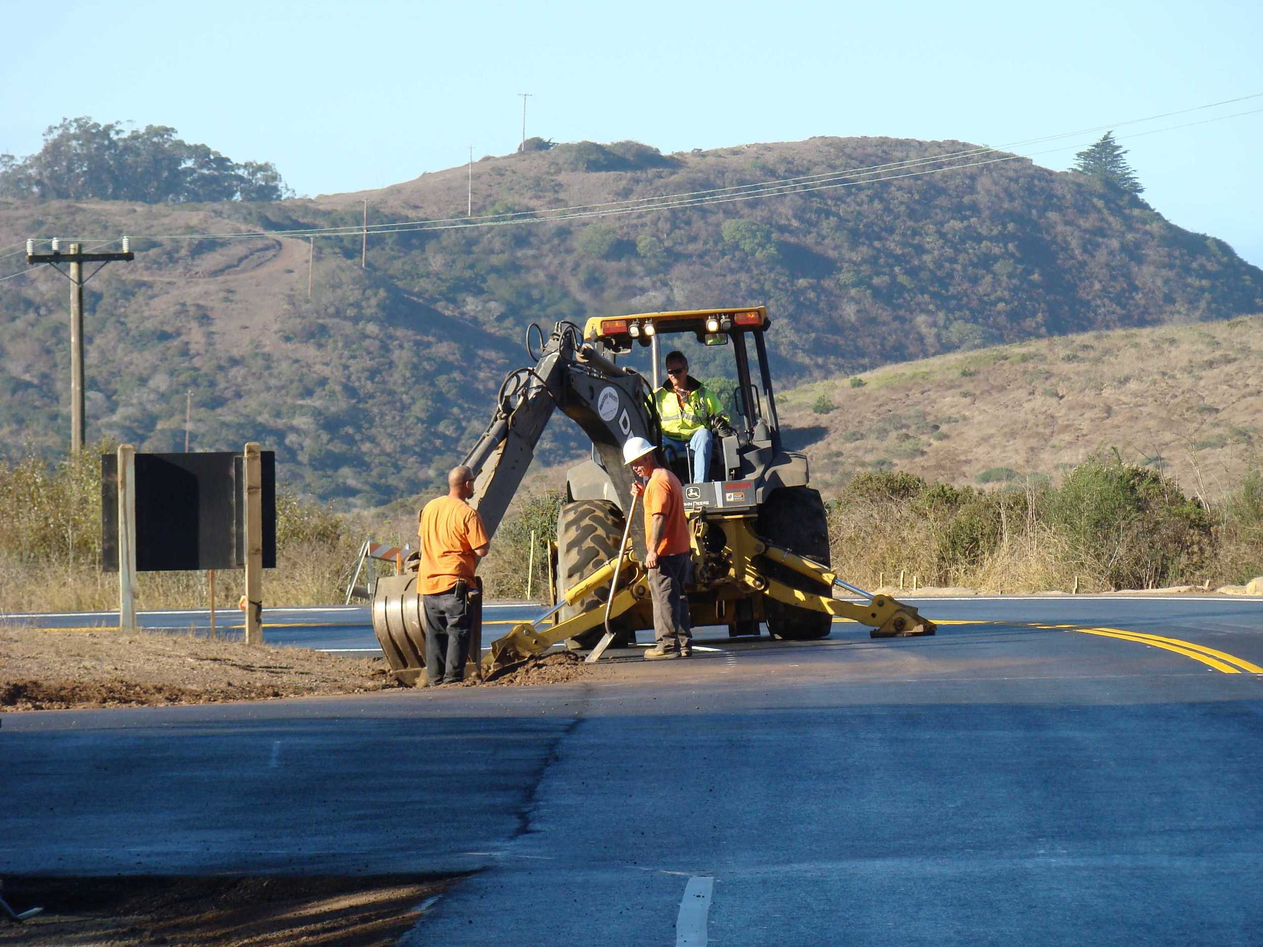 Cleaning Up Drainage Ditches along Bunker Road as project comes to close
