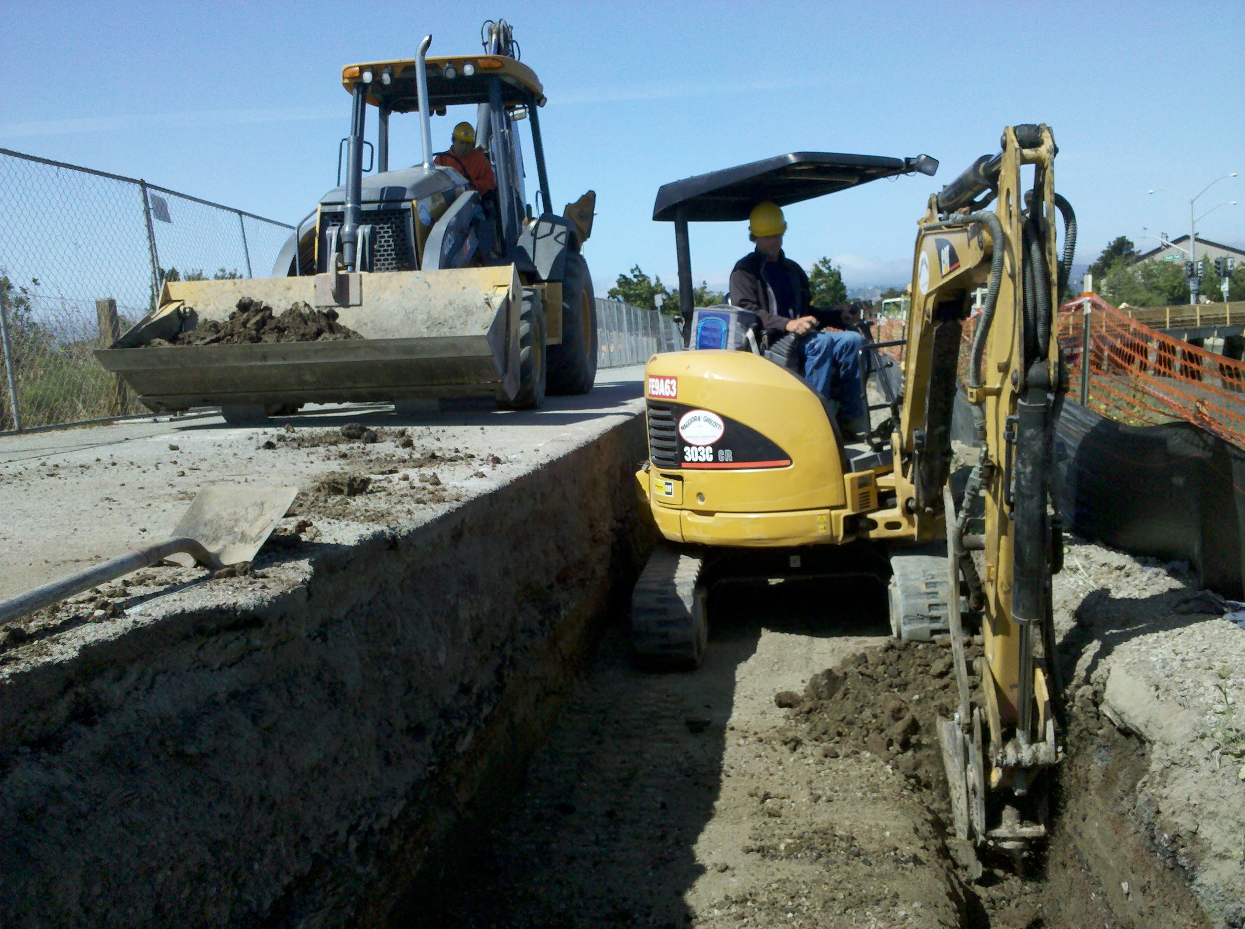 Footing Excavation at Ryder Park