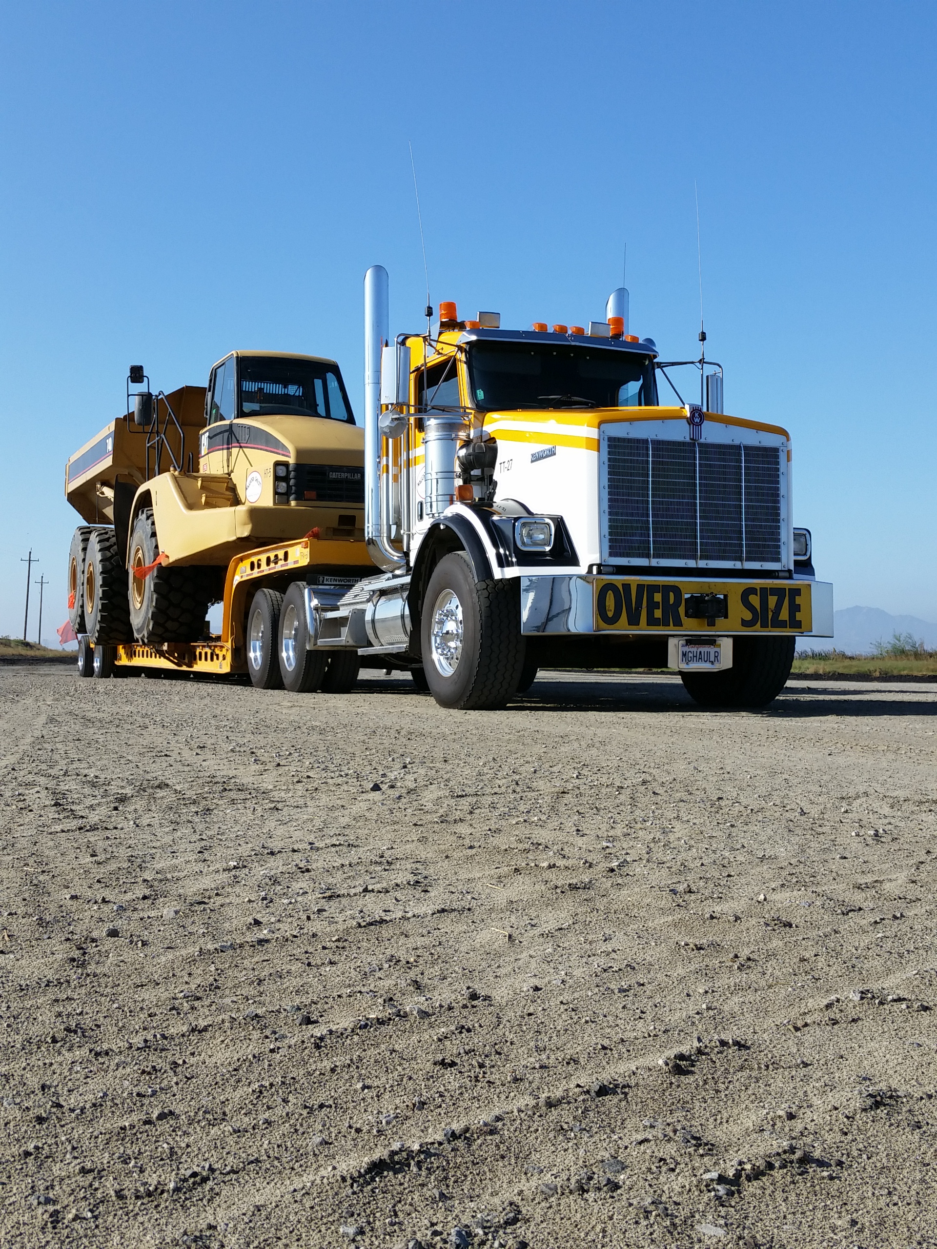 740 Haul Truck heading out to next big dirt project
