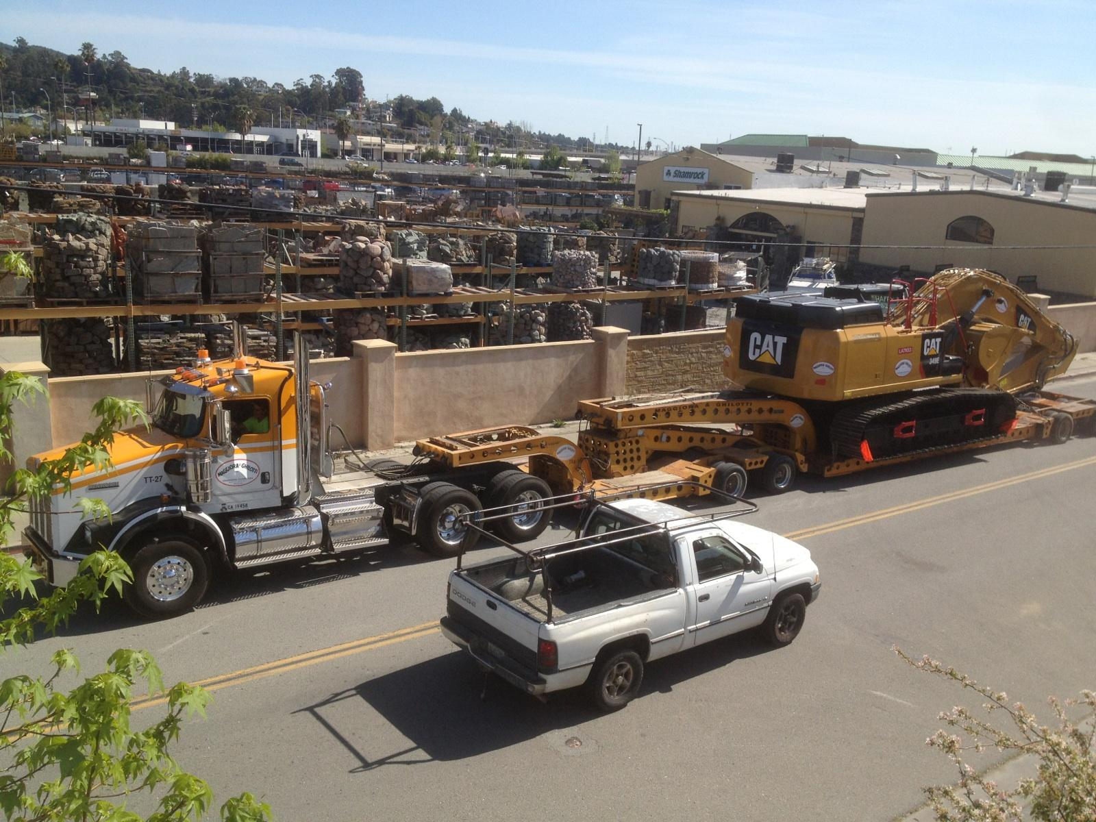 349 Excavator on 7 axle