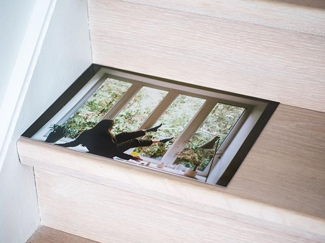 Placement is the activity. Cedar pose [35mm] PLACE(MAENT) with Lauren Runions.  Design detail: solid white oak staircase