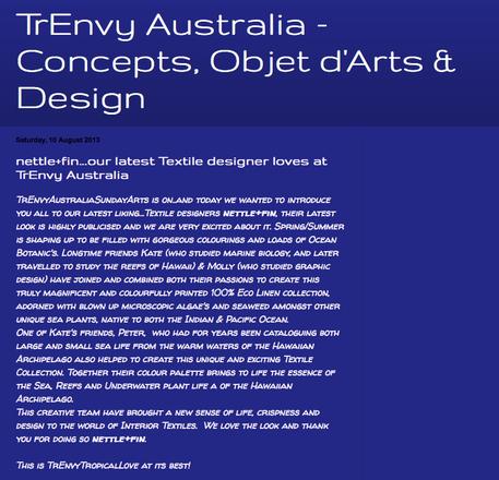 TrEnvy Australia • August 10, 2013