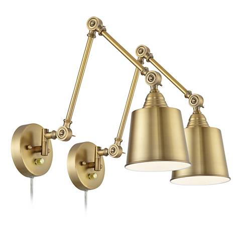 Brass plug in sconces- click image to purchase