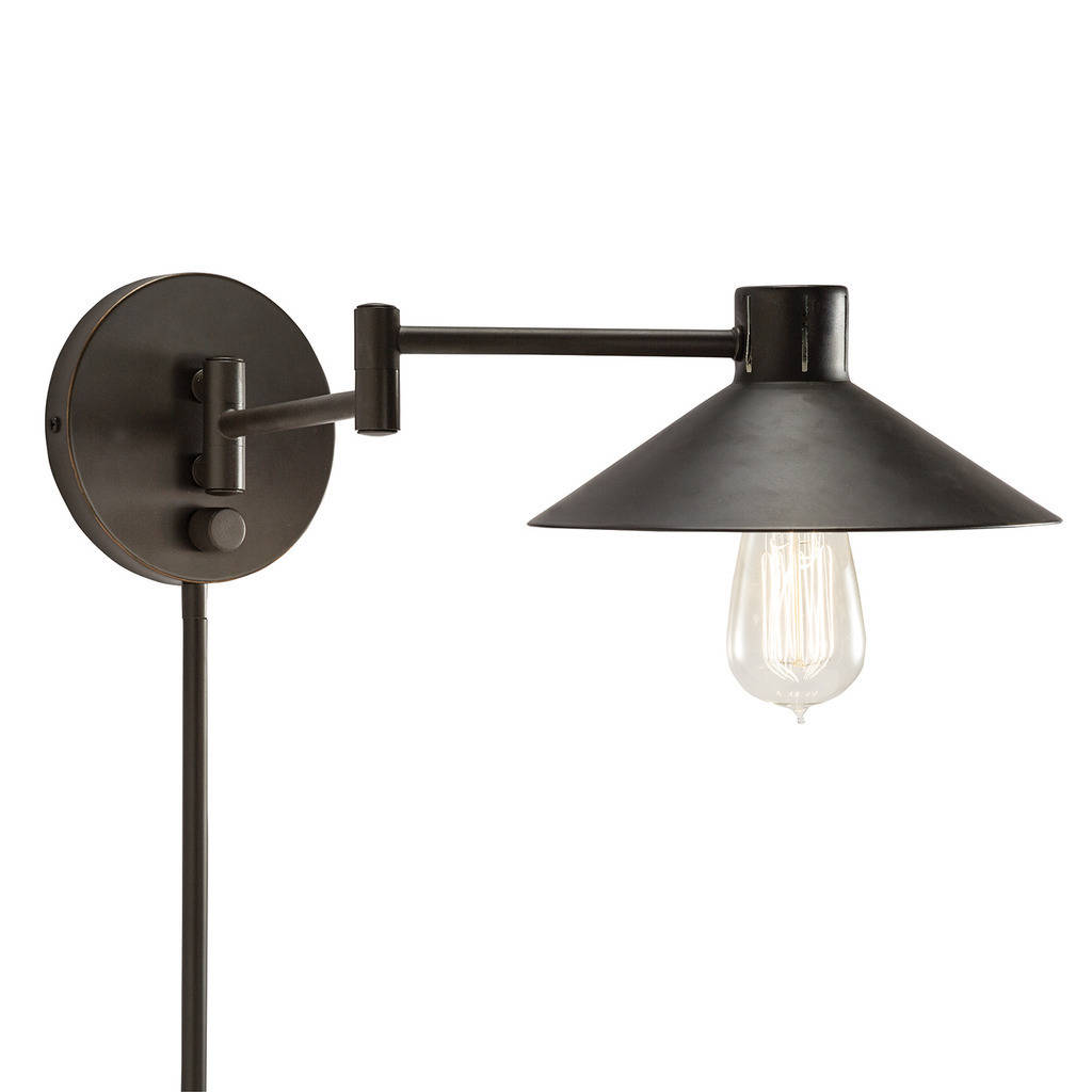 matte black plug in sconce- click to purchase