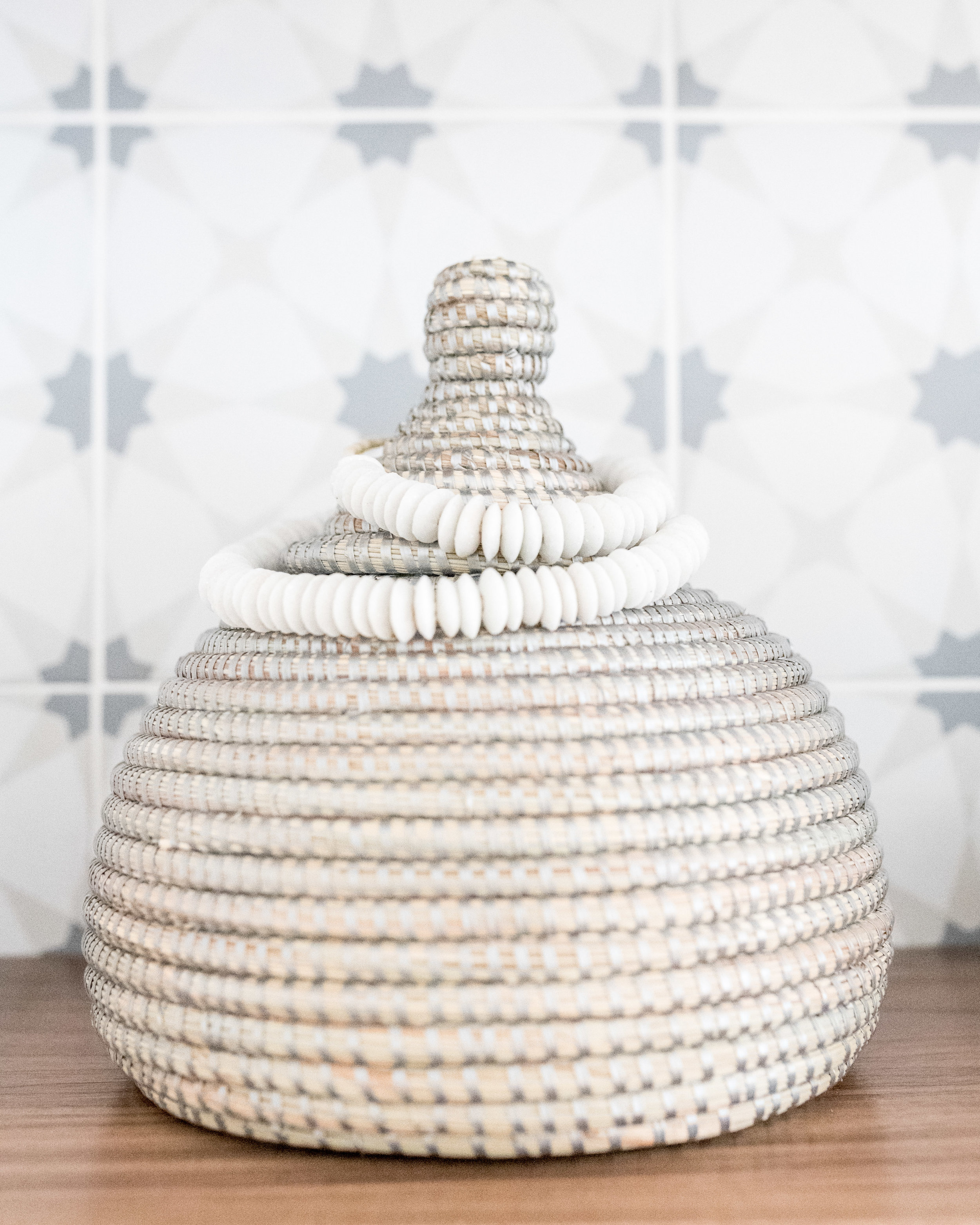decorative bead and basket from Abode Shoppe
