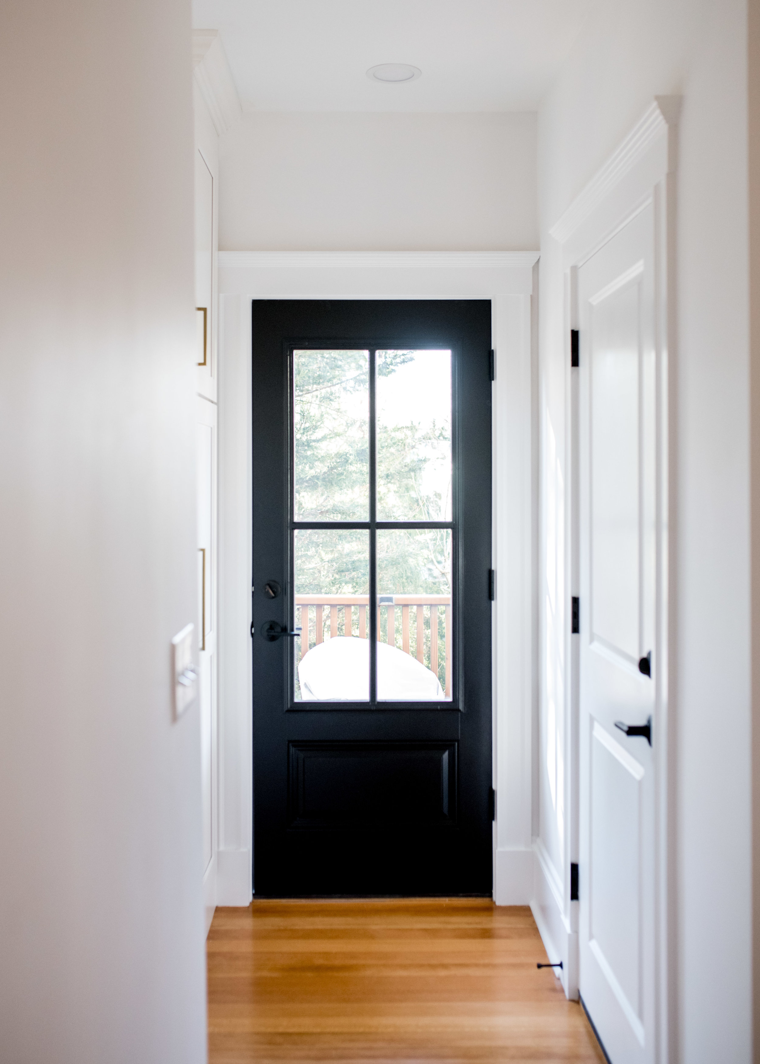 moved door to common hallway to open up the space