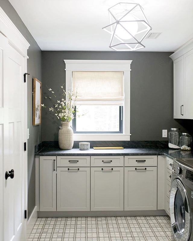 I hope you're weekend involves lot a of fun activities that don't include laundry! Although, I wouldn't mind doing laundry if it were in a room like our Ludlow Project laundry room! | Design @ginabaran | pc @wearefreebird | Builder: DiPietro Homes.
