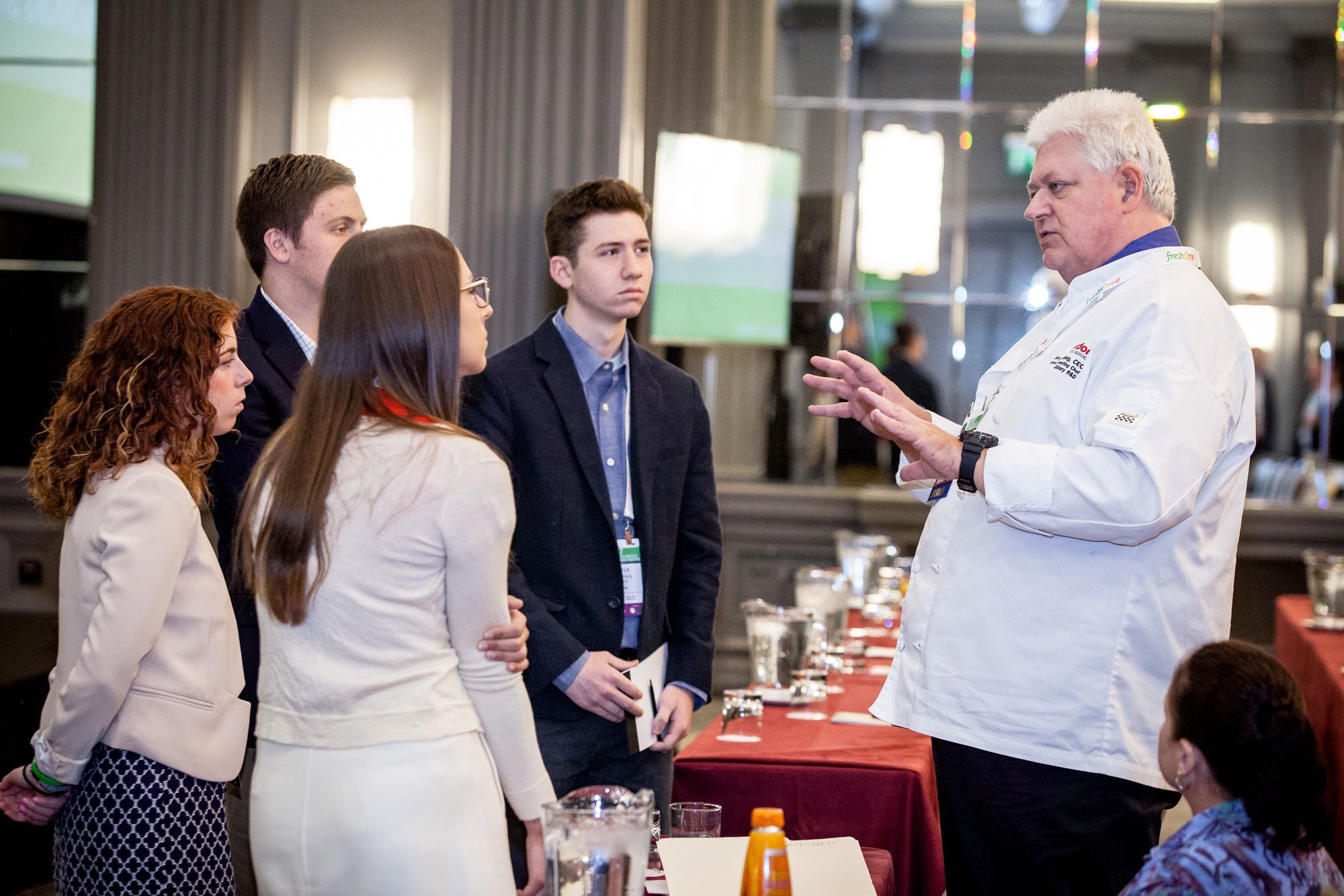 Gerry Ludwig of Gordon Food Service, shares his wisdom with delegates after a great presentation at The London Produce Show.