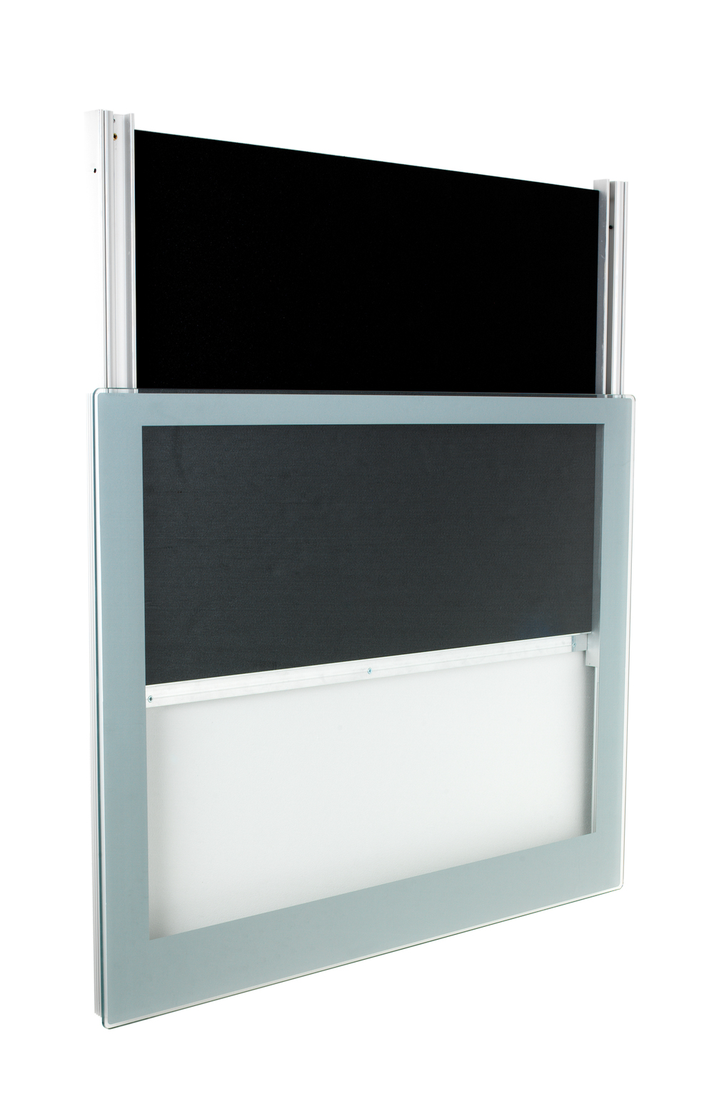 frameless display case mount