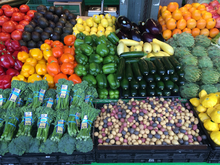 Pictured: Fresh fruits and vegetables from the Pike Place Market. June 12, 2016.