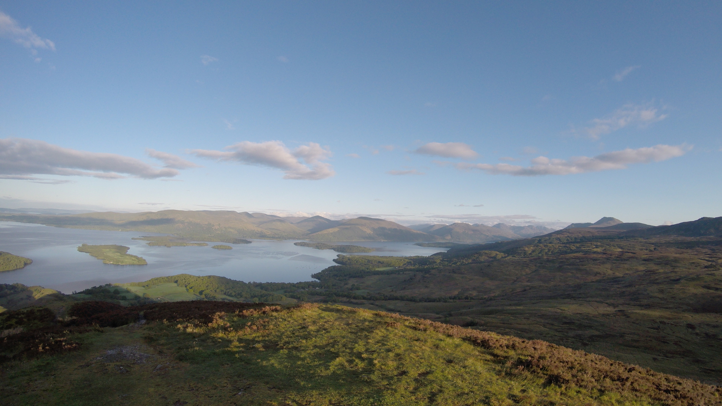 The Scottish Highlands from the top of Conic Hill