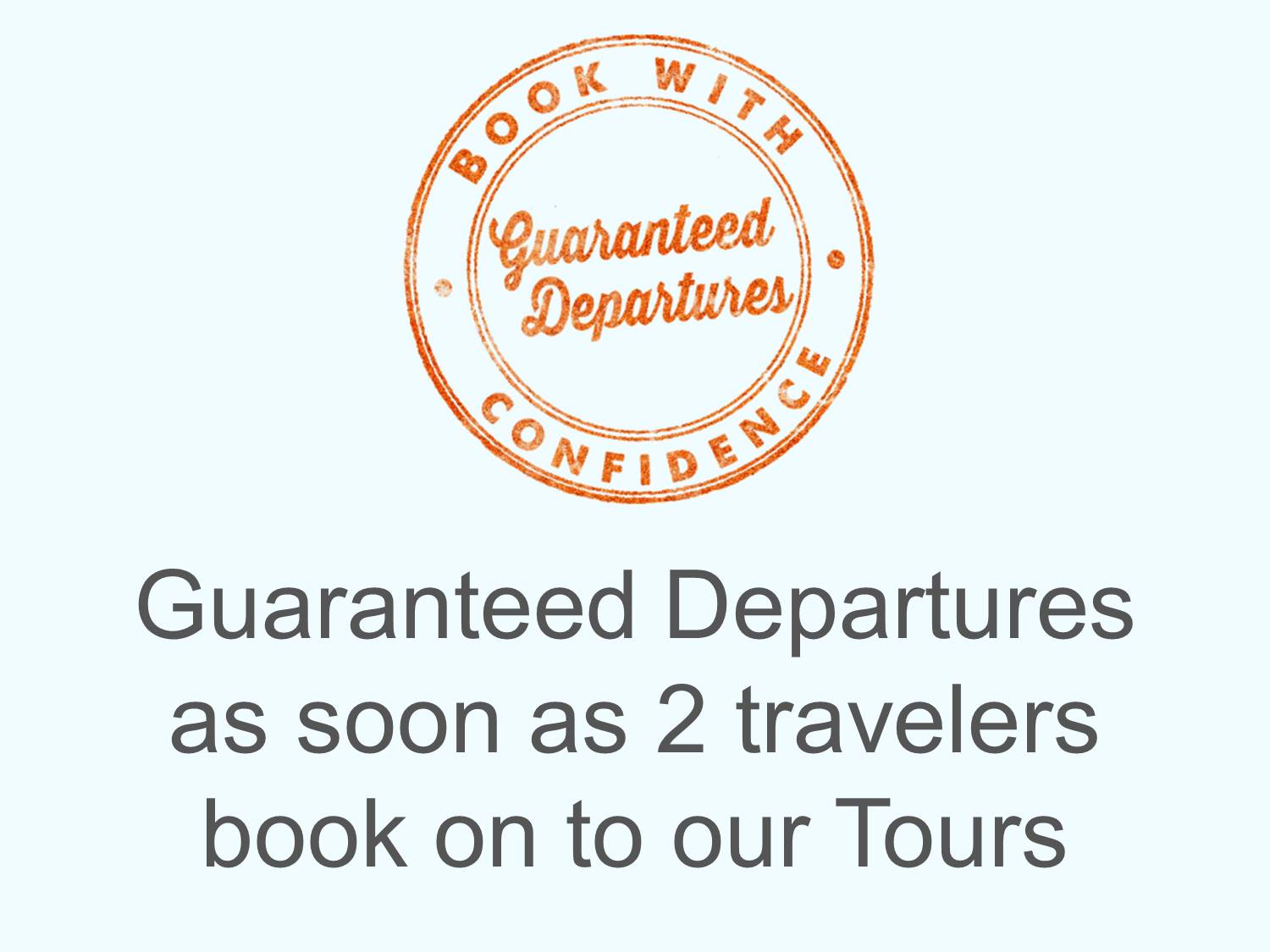 guaranteed departures for your scottish tour