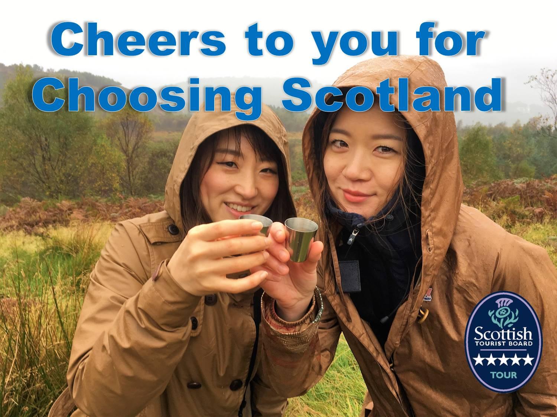 cheers for choosing scotland