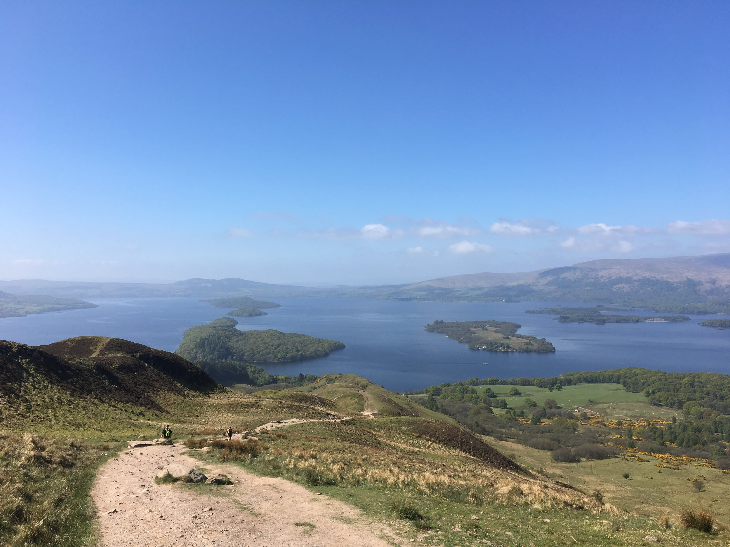 Enjoying the scenic views of Loch Lomond on the West Highland Way
