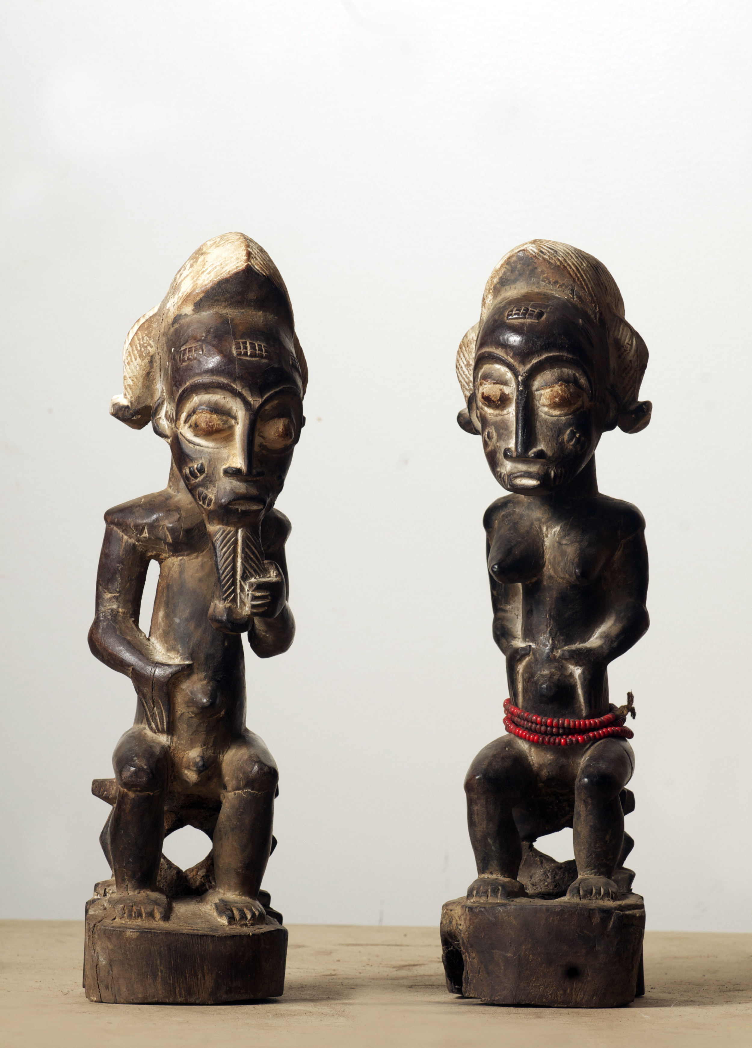 Baule couple figure, Cote D'Ivoire. Height 14.3 inch.Pp. $150.00 each.jpg