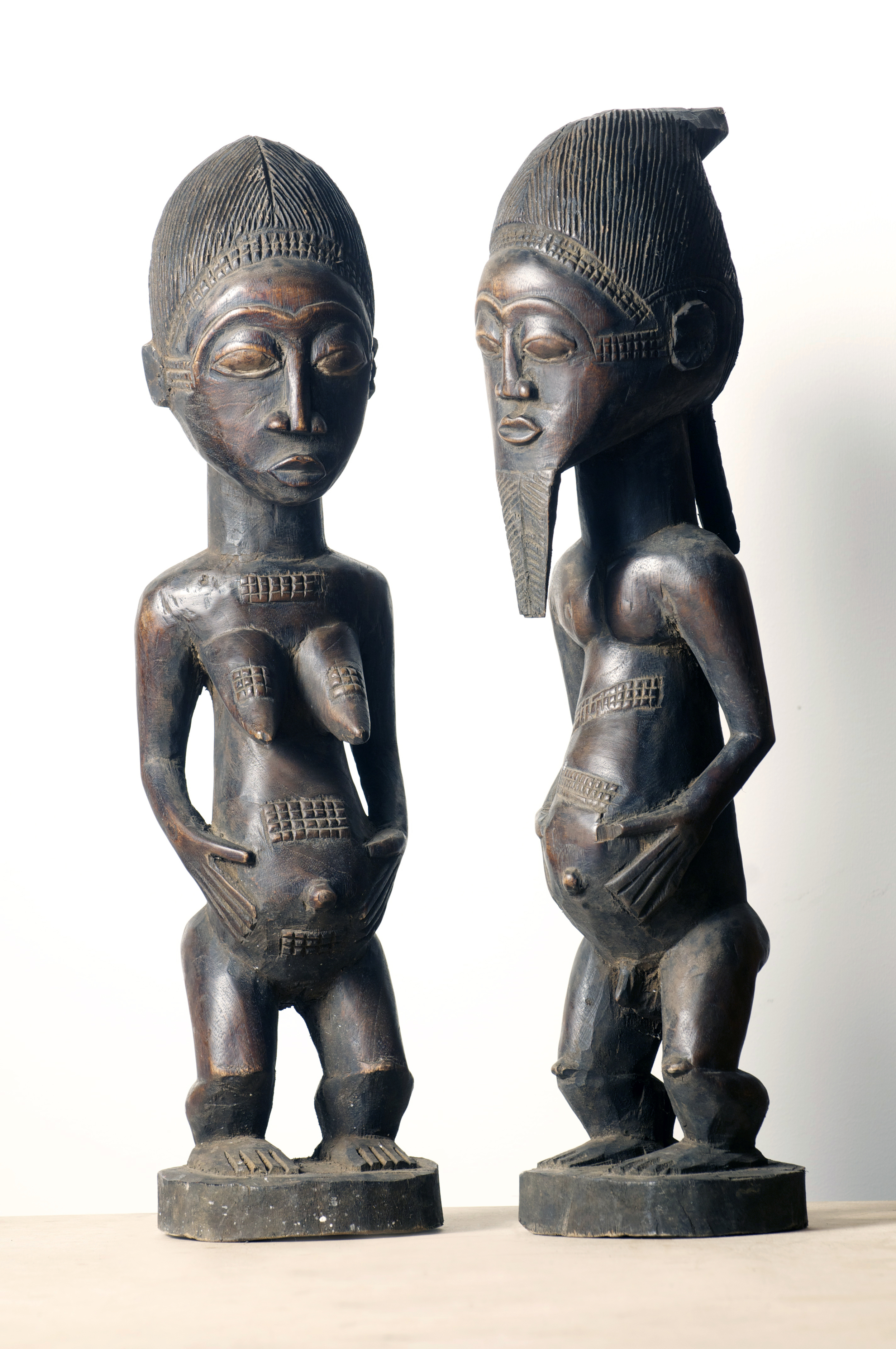 Baule couple figure, Cote D'Ivoire. Height 22.3 inch. Pp. $799.00 each.jpg