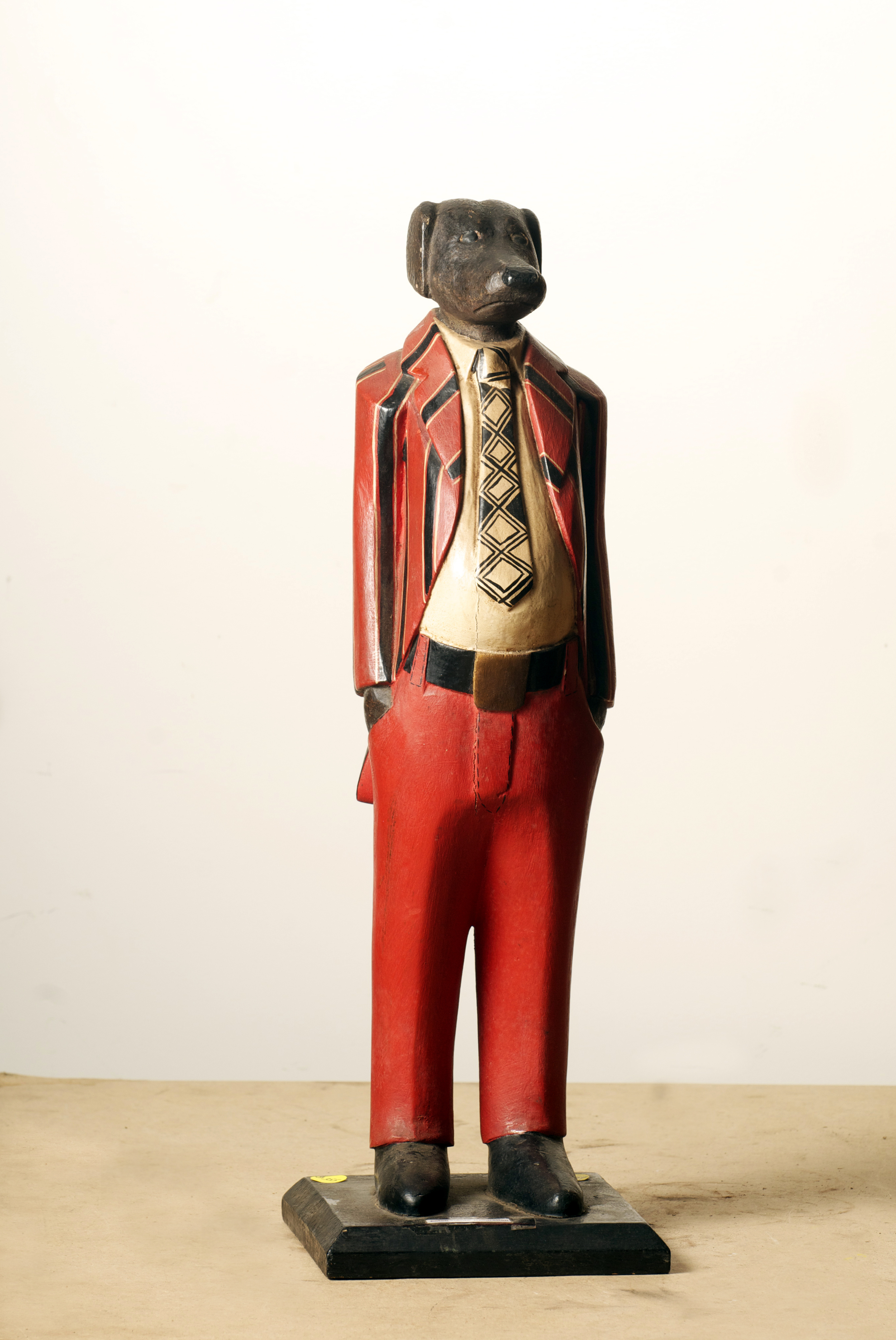 Colonial Figure Dog man, Cote D'Ivoire. Height 24.6 inch.Pp.$355.00.jpg