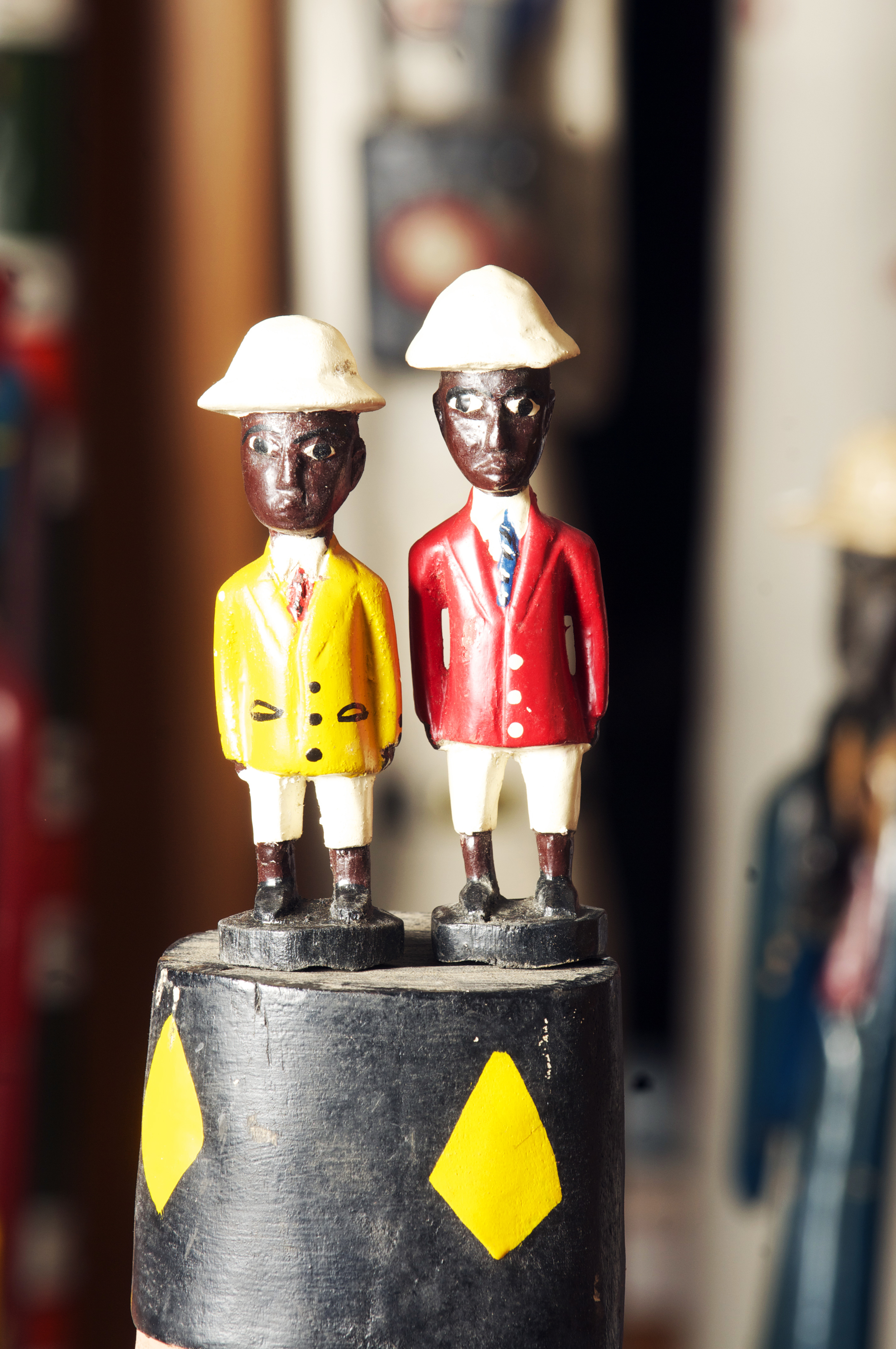 Colonial Figures, Cote D'Ivoire, height L.5.4inch  and R. 6inch. Pp $20.00.jpg