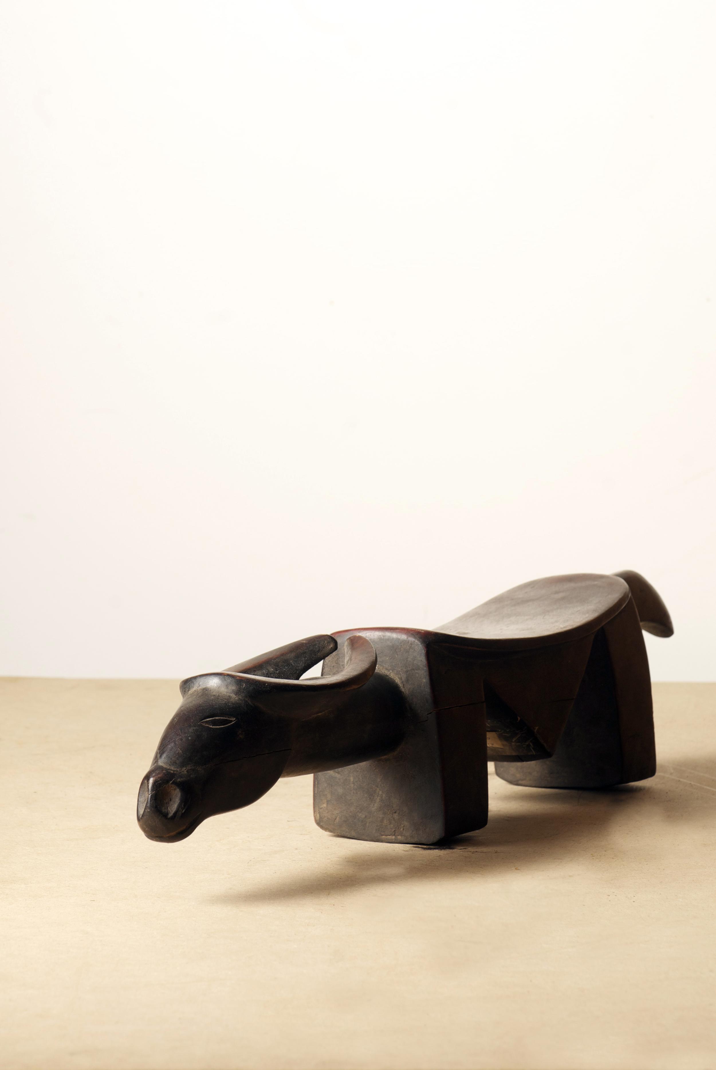 Senoufo Headrest, Cote D'ivoire, Dim. 27.1inch.Pp.$270.00.jpg