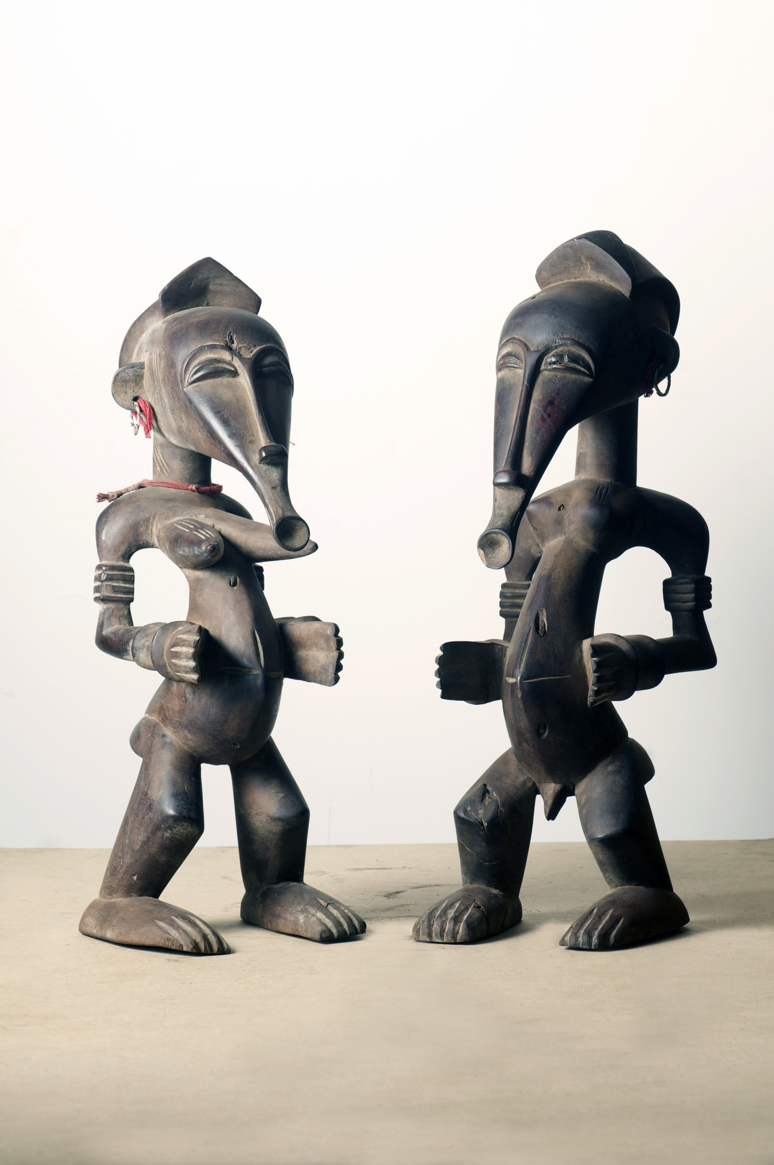 Senufo couple figures, Cote d'Ivoire. Height 20.2 inch.Pp. $1400..jpg