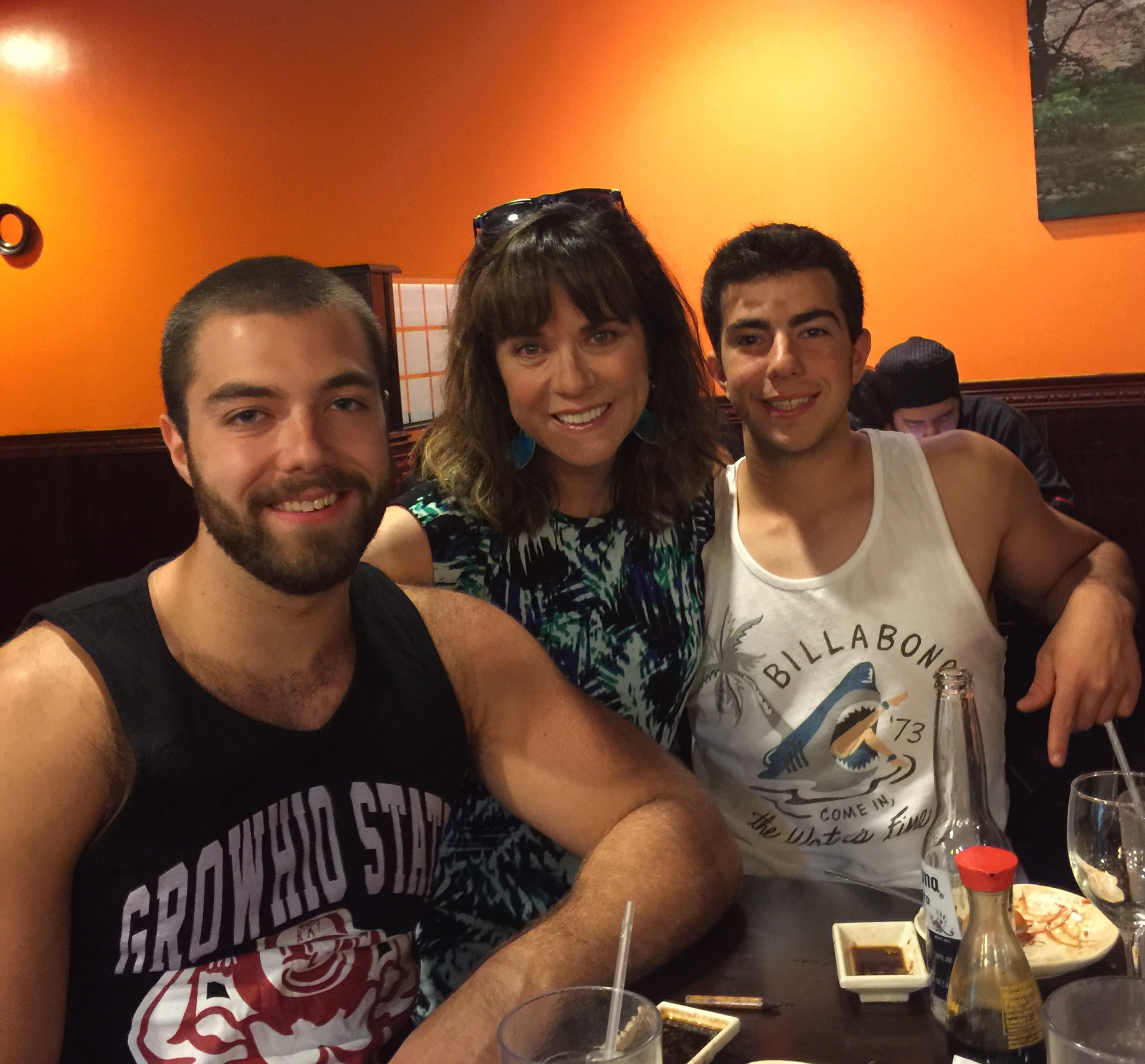 My sons, Zach and Matt, at one of our birthday celebrations for Zach's 20th birthday this year.