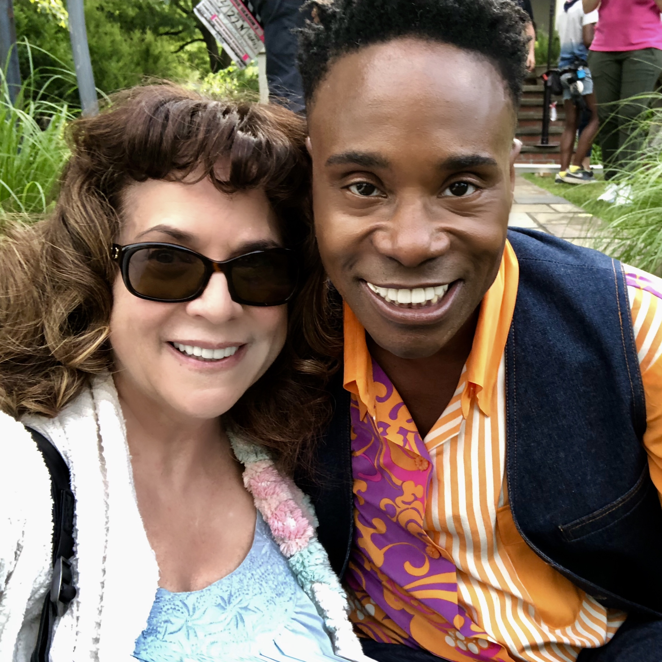 "Fun day on location in upstate NY with Billy Porter. Watch me    Here    as Patti Lupone's curler-headed neighbor on Ryan Murphy's POSE on FX. Episode 207 - ""Blow""."