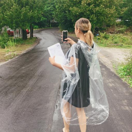 These rain ponchos were life savers