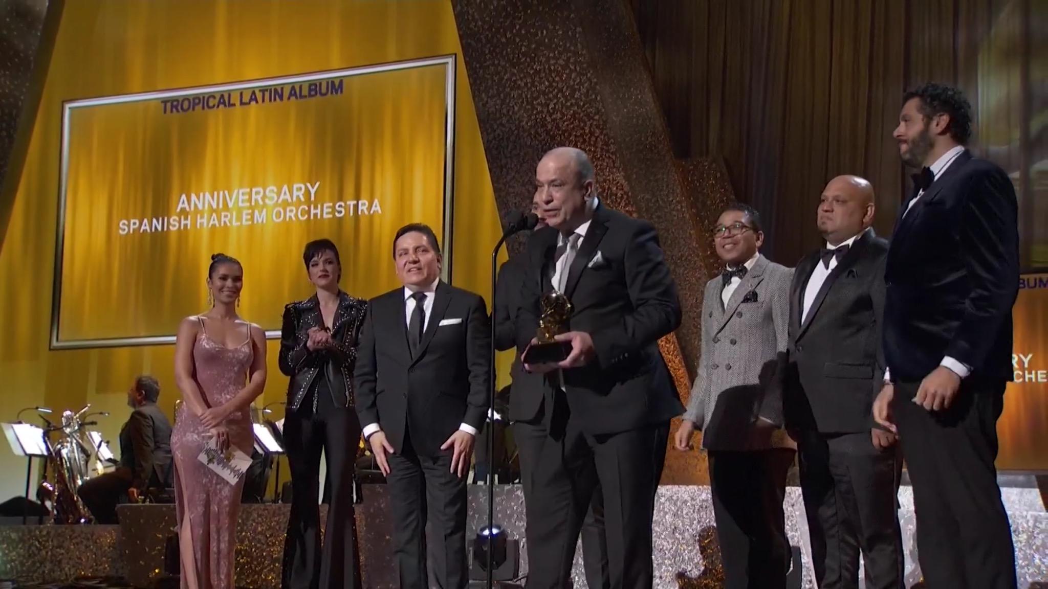"Marco Bermudez, Jeremy Bosch, Oscar Hernandez, Luisito Quintero, Carlos Cascante & Doug Beavers receive 2019 GRAMMY award for ""Best Tropical Album"""