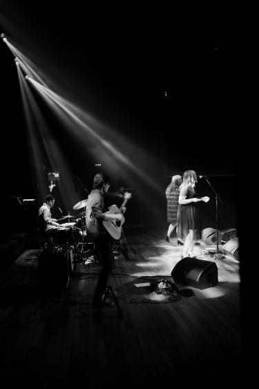 with Secret Sisters at Ryman Auditorium    photo by Mark Slagle