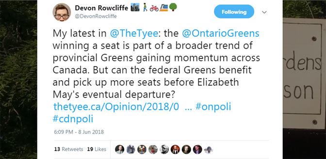 Devon Rowcliffe Twitter post