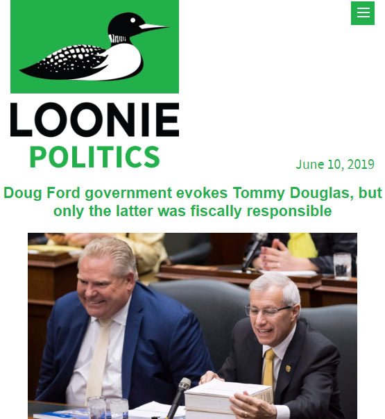 Loonie Politics screen capture