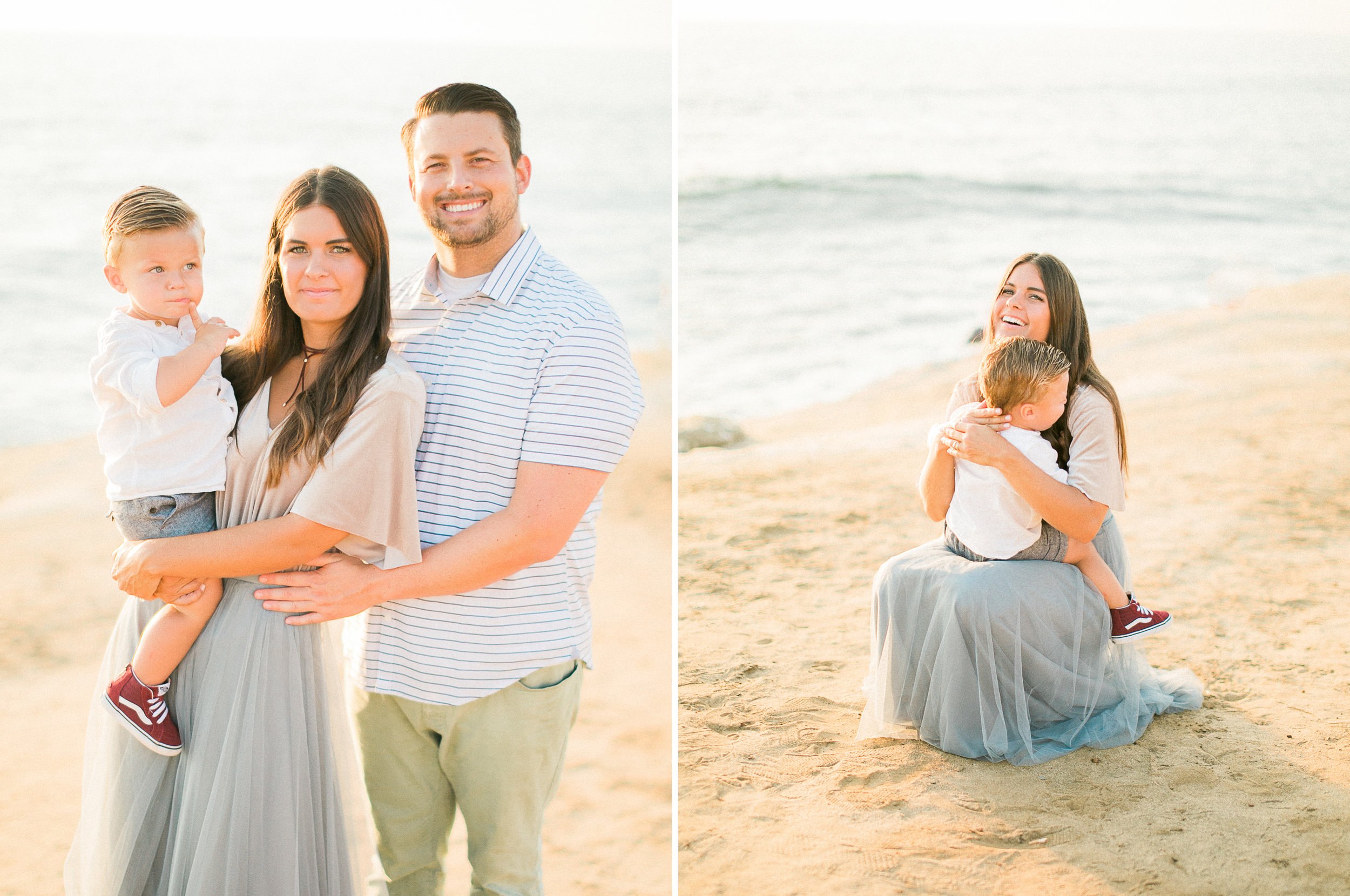 San Diego fine art film photography - Sunset Cliffs beach family session