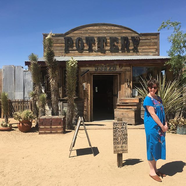 You guys, I took some time off to unwind in TX with family and the Palm desert for @gabeishh Birthday🌵 I am feeling so inspired and refreshed. Can't wait to put wildflowers and cacti on some pots. #pioneertown #pioneertownpottery #pioneertownceramics #maker #ladymaker #makersgonnamake #makersgottamake #joshuatree #joshuatreesuperbloom