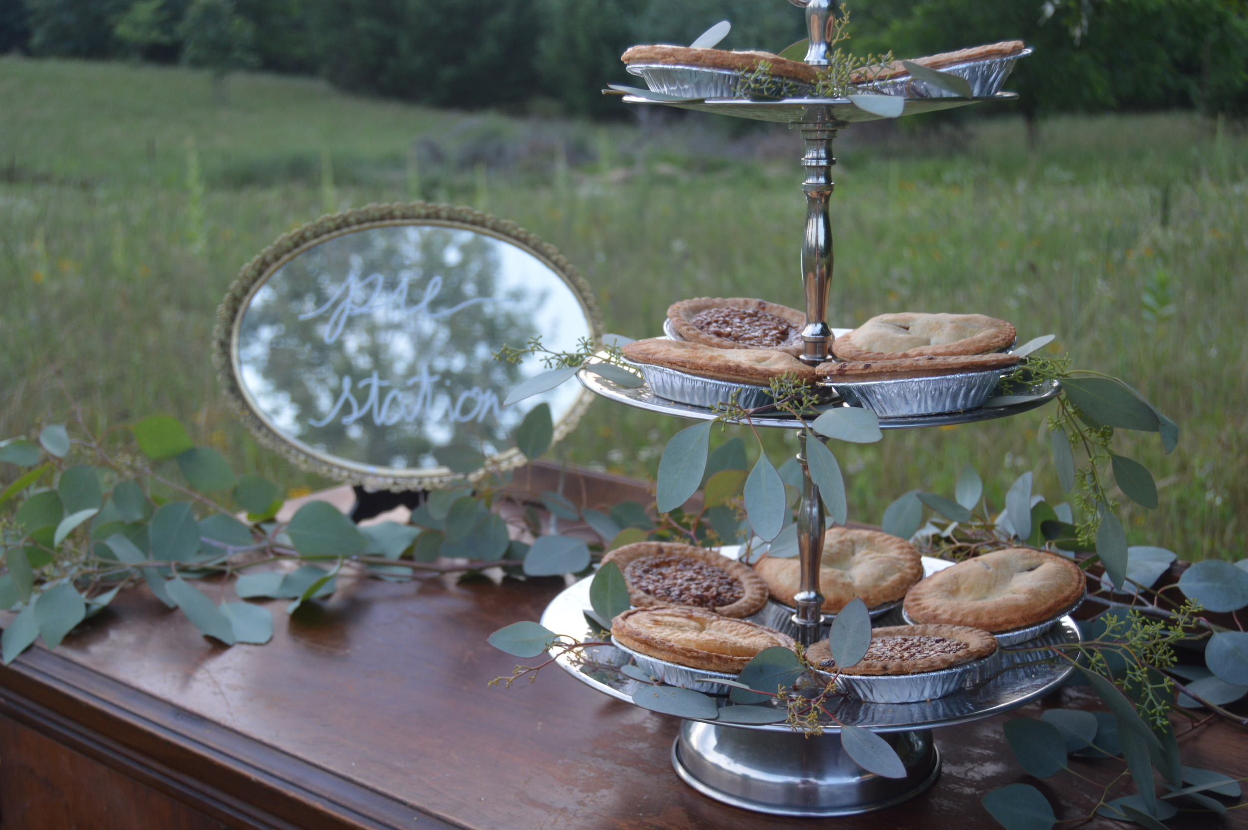 pie station pie tower pecan pie apple pie lemon pie wedding pies